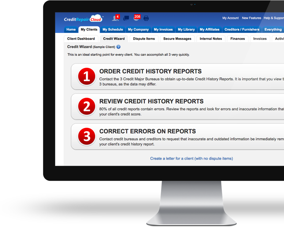 Credit Repair Cloud   Credit Repair Software CRM   Try it FREE!