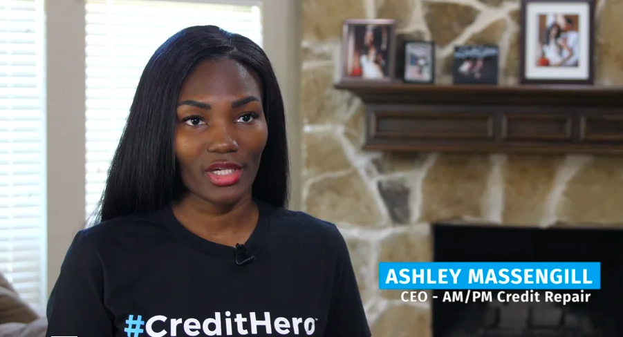 Ashley Massengill uses credit repair software to build business