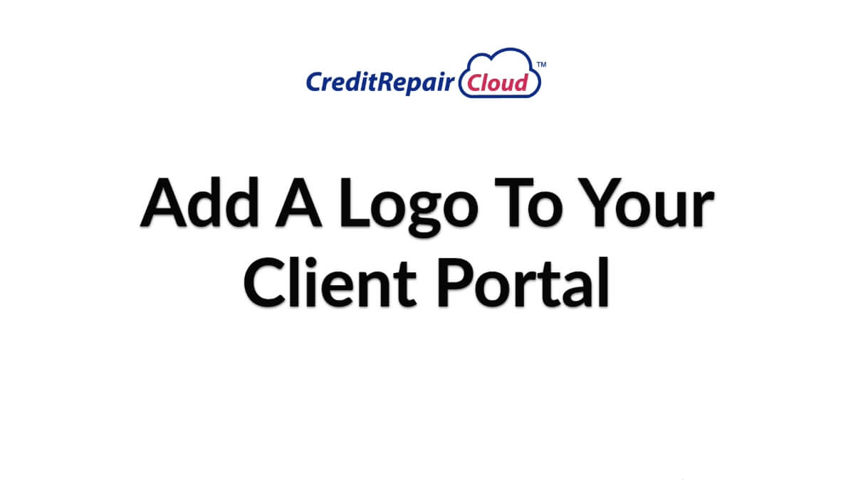 add a logo to your client portal