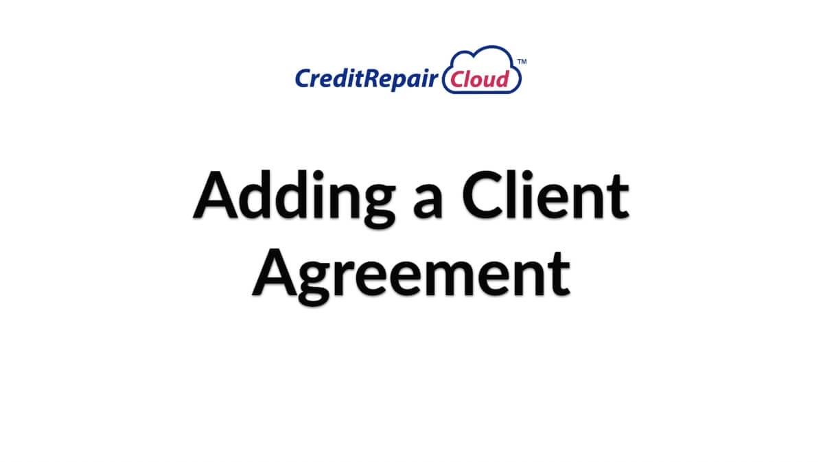 adding a client agreement