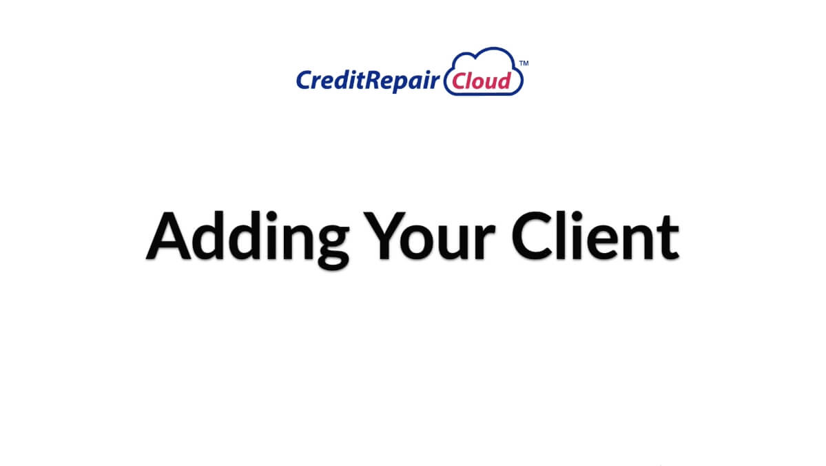 adding your client