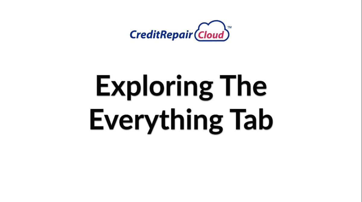 exploring the everything tab