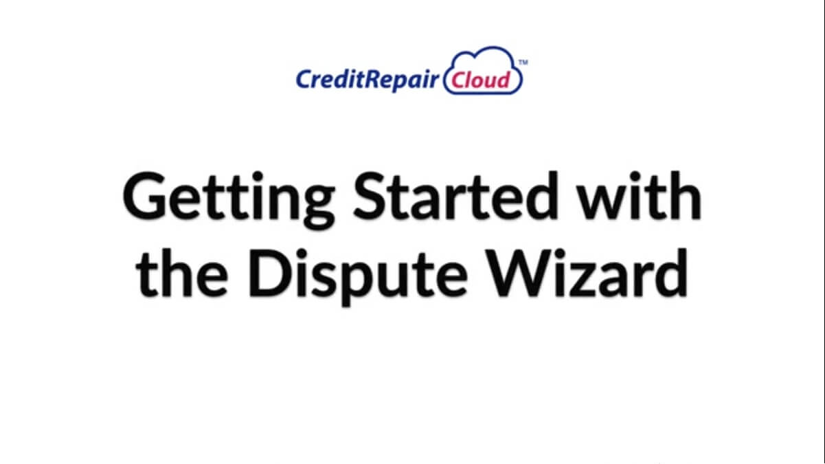 getting started with the dispute wizard