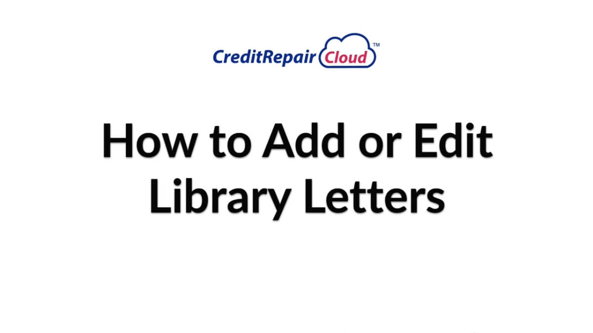 how to add or edit library letters