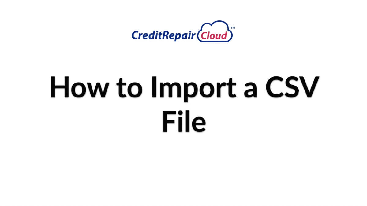 how to import a csv file