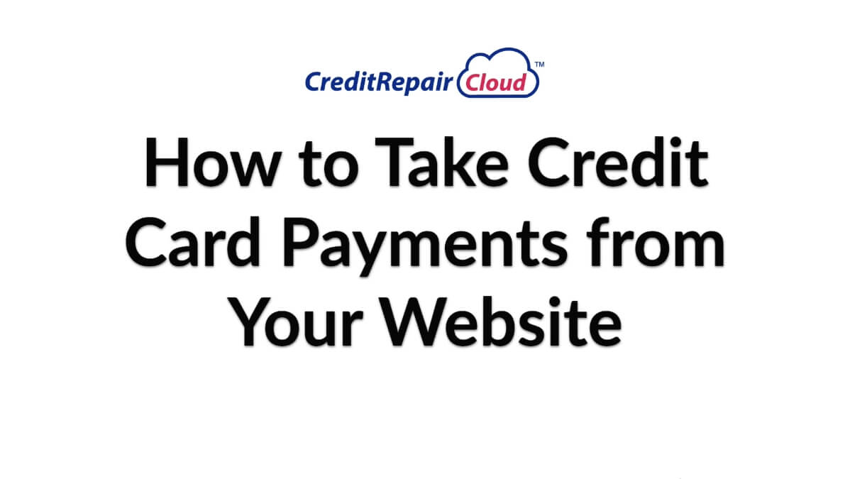 how to take credit cards from your website