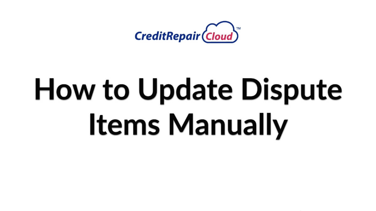 how to update dispute items manually