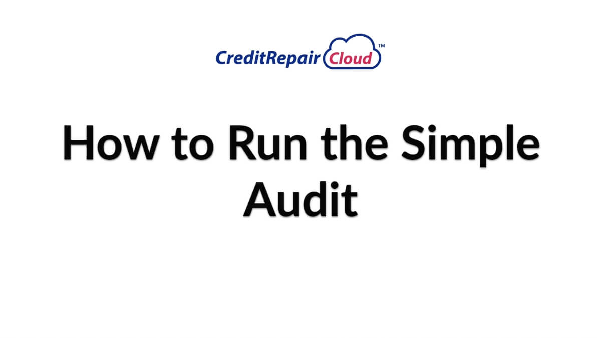 how to use simple audit
