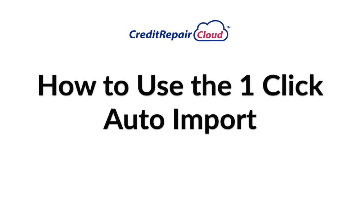 how to use the 1 click auto import
