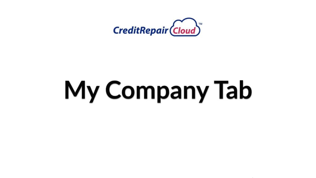 my company tab