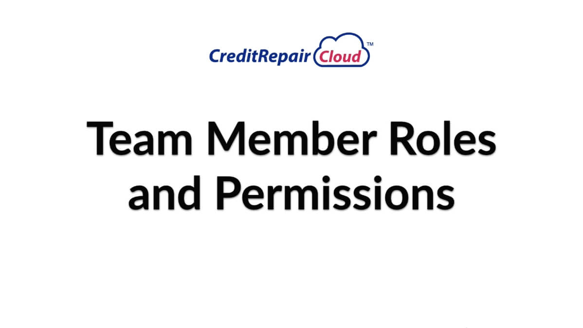 team member roles and permissions
