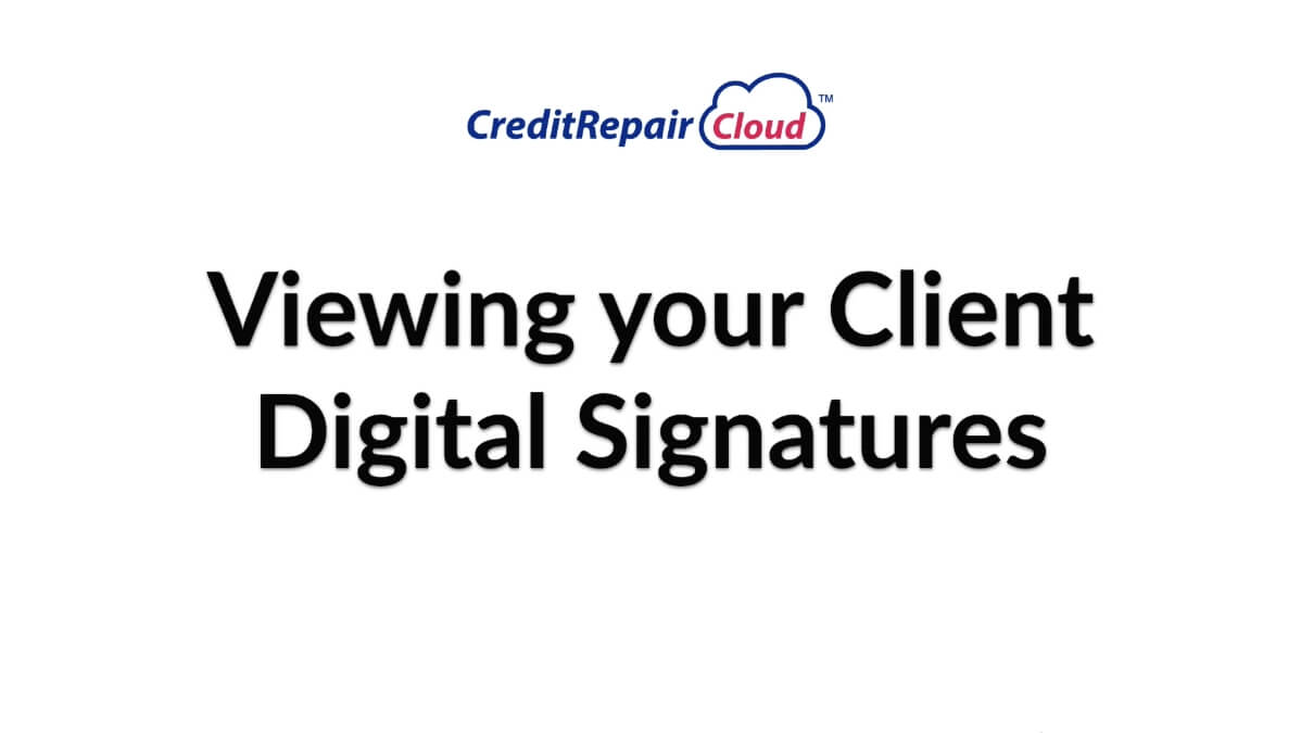 viewing your digital signatures