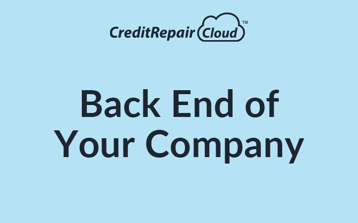 Back End of Your Company